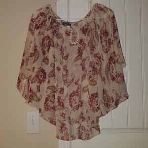 Floral Shear Dress Shirt
